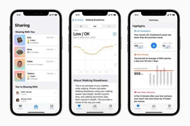 Apple iOS Walking Steadiness