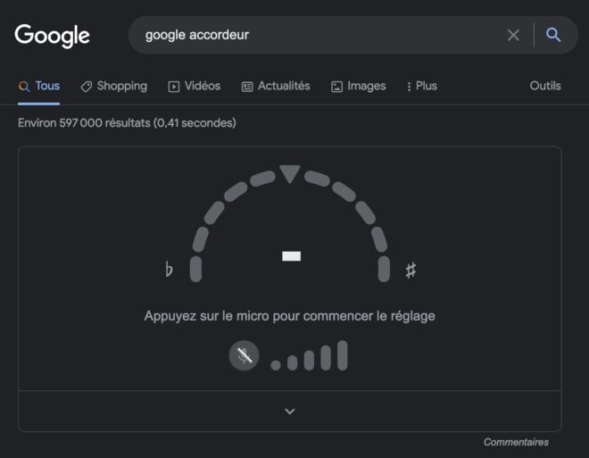 Google Search accordeur guitare